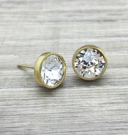 FAB Accessories Crystal Studs in Gold