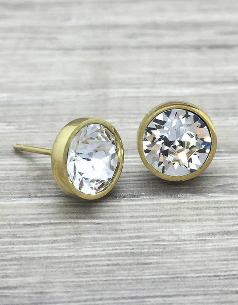 11f12d2b1e6 FAB Accessories Crystal Studs in Gold ...