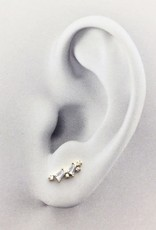FAB Accessories Multi CZ Ear Crawler in Gold