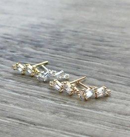 FAB Accessories Multi CZ Ear Crawler in Gold