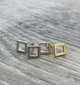 FAB Accessories Open Square Earring Silver