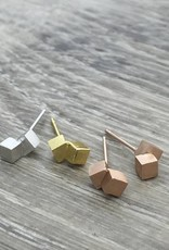 FAB Accessories Double Cubic Studs Silver
