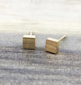 FAB Accessories Square Stud Earring Gold