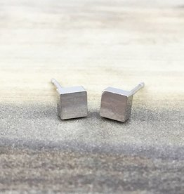 FAB Accessories Square Stud Earring Silver