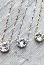 FAB Accessories Crystal Swarovski Necklace Gold