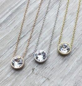 FAB Accessories Crystal Swarovski Necklace Silver