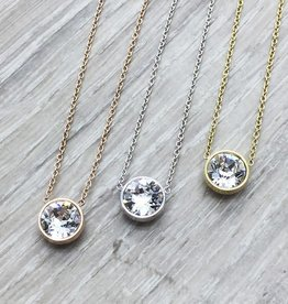FAB Accessories Crystal Swarovski Necklace Rose Gold