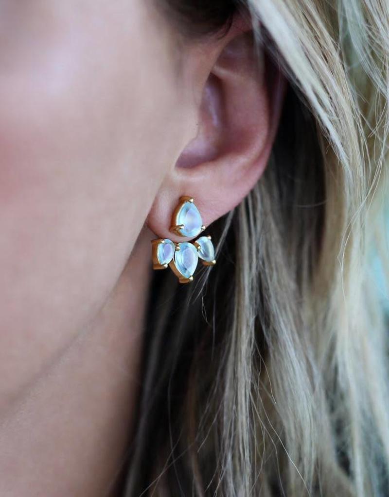 LEAH ALEXANDRA Sunny Ear Jacket Aqua Gold