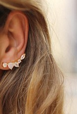 LEAH ALEXANDRA Wing Ear Climbers Moon Gold