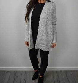 RD STYLE Open textured Cardigan, multi coloured threads