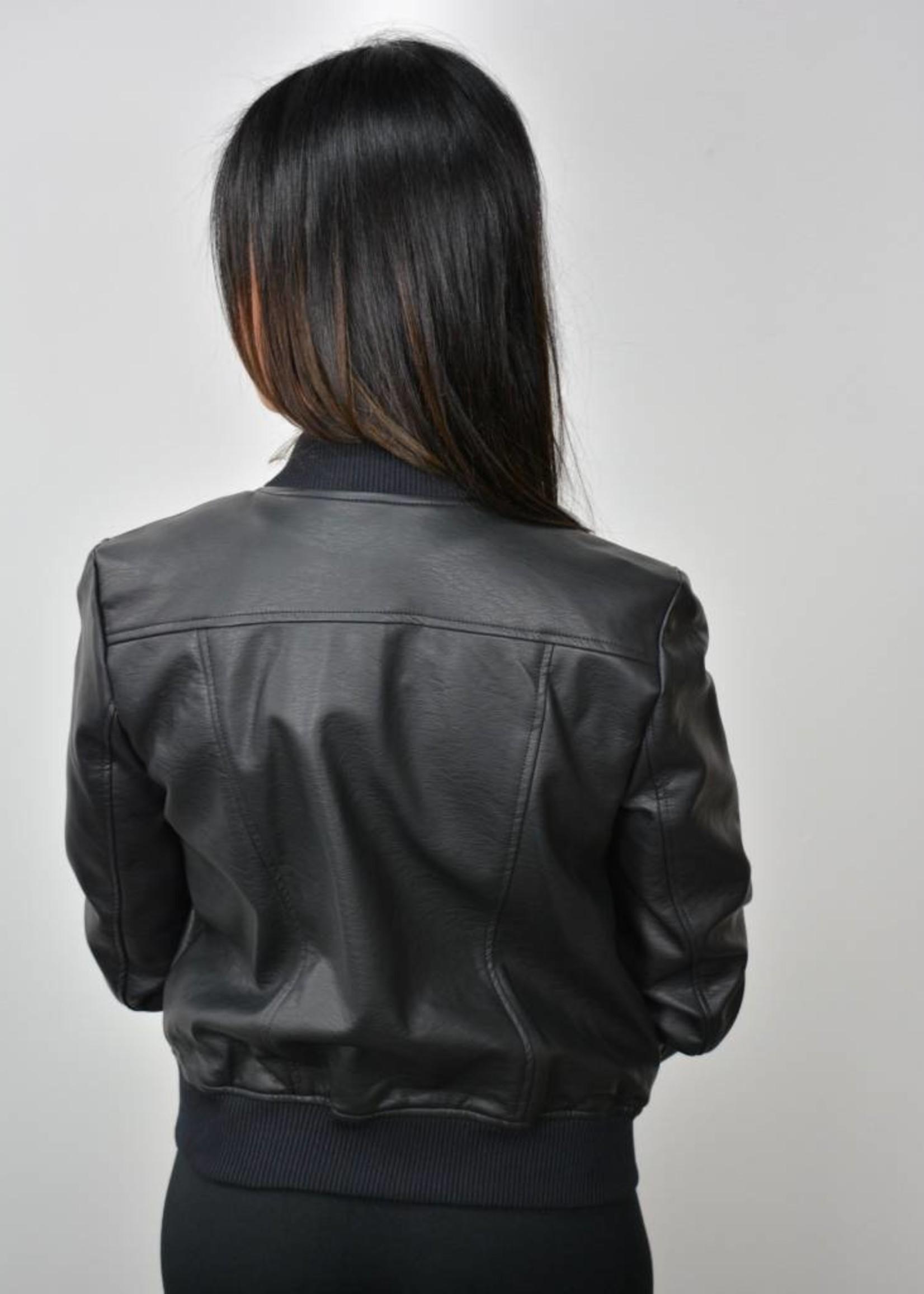BB DAKOTA Faux Leather Bomber