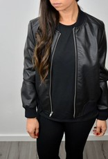 BB DAKOTA Faux Leather Bomber