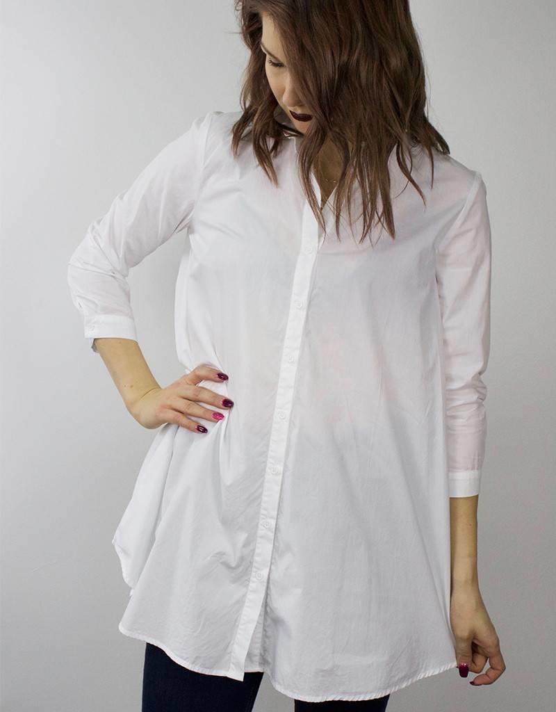 BB DAKOTA Button Up Tunic WHITE