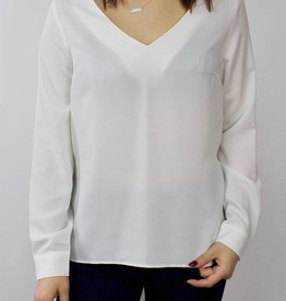 LeBLANC finds Open Back Blouse WHITE
