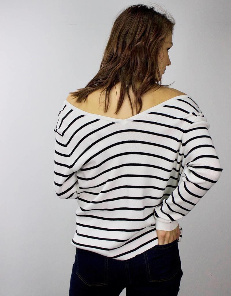RD STYLE Stripe Sweater