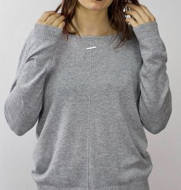 LeBLANC finds Button Detail Sweater GREY