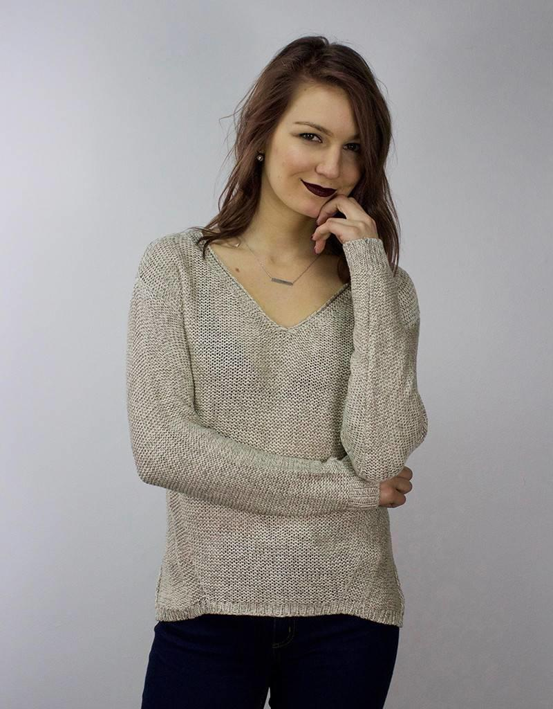 63cff2fe7d LeBLANC finds Knit Sweater with Lace Detail CREAM ...
