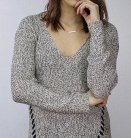 LeBLANC finds Tie Detail Knit Sweater