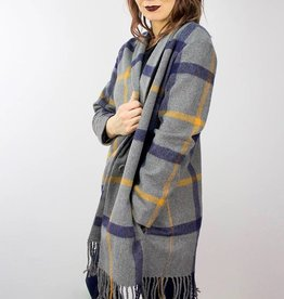 BB DAKOTA Elementary Plaid Coat CHARCOAL