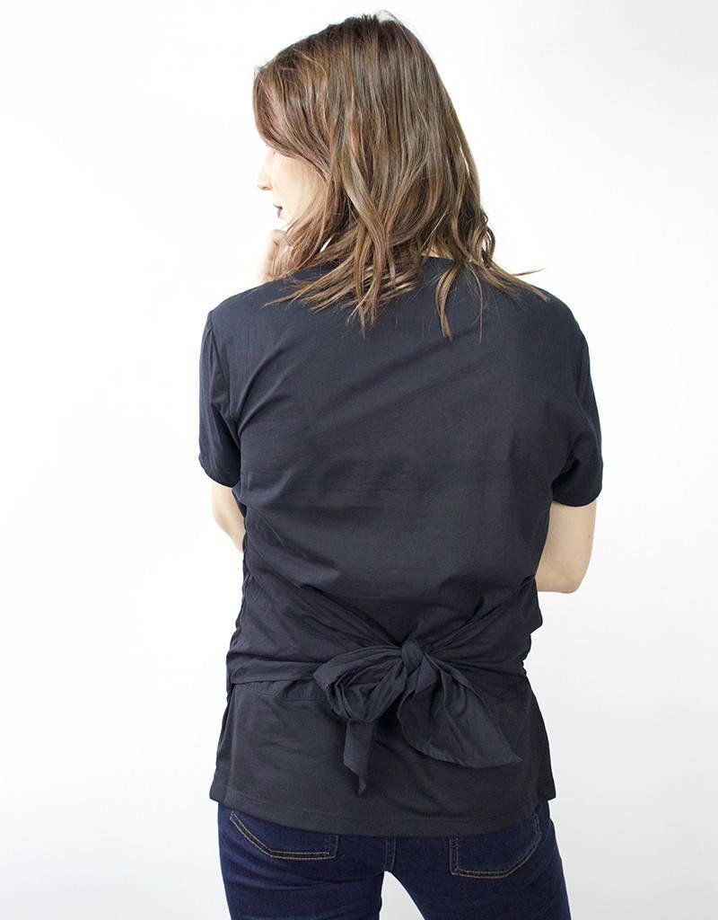 LeBLANC finds Back Tie Tee BLACK