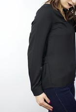 LeBLANC finds Open Back Blouse BLACK