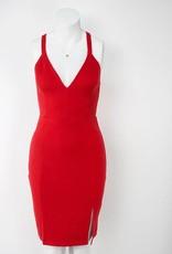 LeBLANC finds Deep V Bodycon Dress