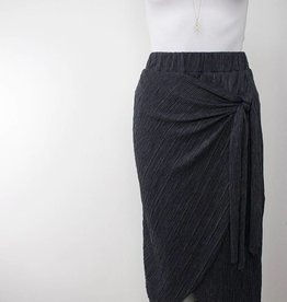 LeBLANC finds Pleated Faux Tie Skirt