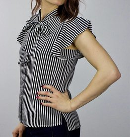 ONLY Striped bow blouse