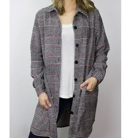 RD STYLE Button Up Plaid Wool blend Jacket