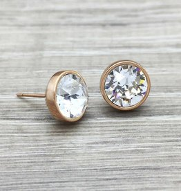 FAB Accessories Swarovski Stud Rose Gold