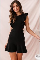 LeBLANC finds Ruffle sleeve dress, BLACK