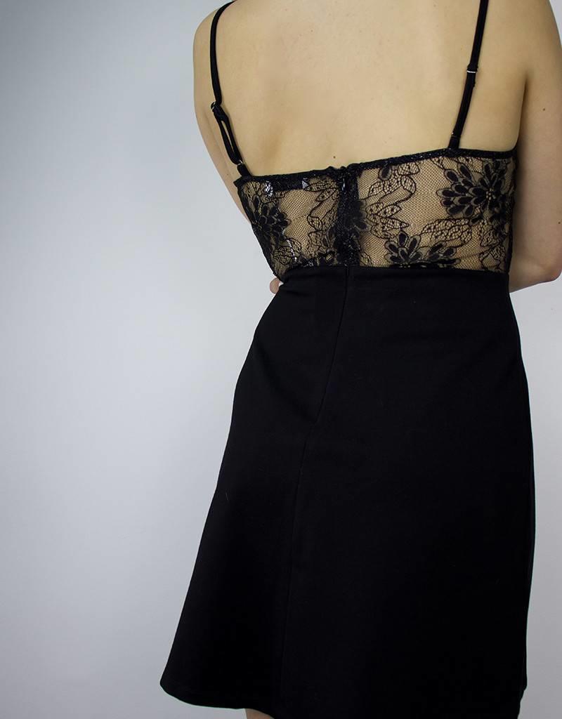 LUSH Fit & Flare Lace Detail Dress