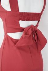 LeBLANC finds Square Neck, Sheath Dress, ROSE