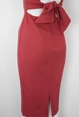 Square Neck, Sheath Dress, ROSE