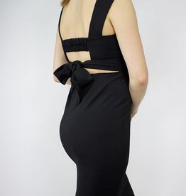 LeBLANC finds Square Neck, Sheath Dress, BLACK
