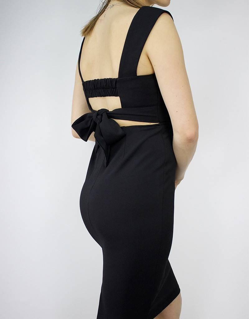 LeBLANC finds Square Neck, Sheath Dress, BLACK