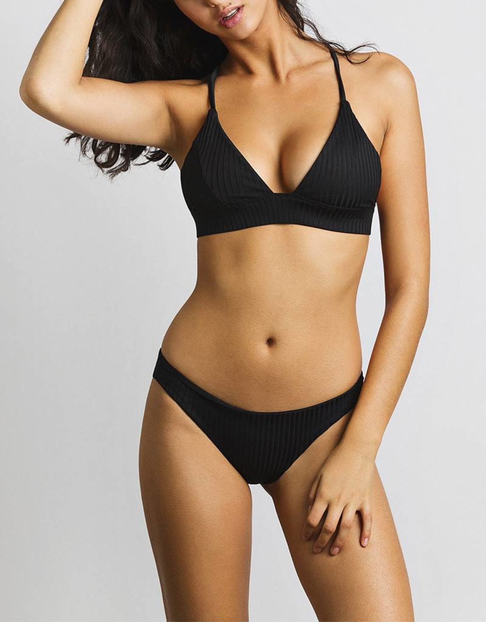 JUNE Swimwear Olivia Bikini Bottom ONYX