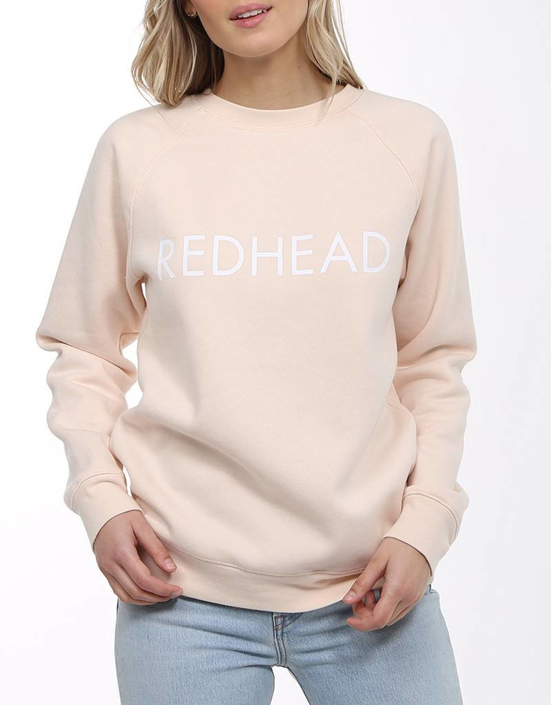 BRUNETTE  the label Redhead Crew Peach