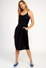 RVCA Midi Pocket Dress BLACK