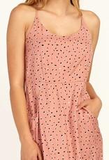 RVCA Midi Pocket Dress CORAL