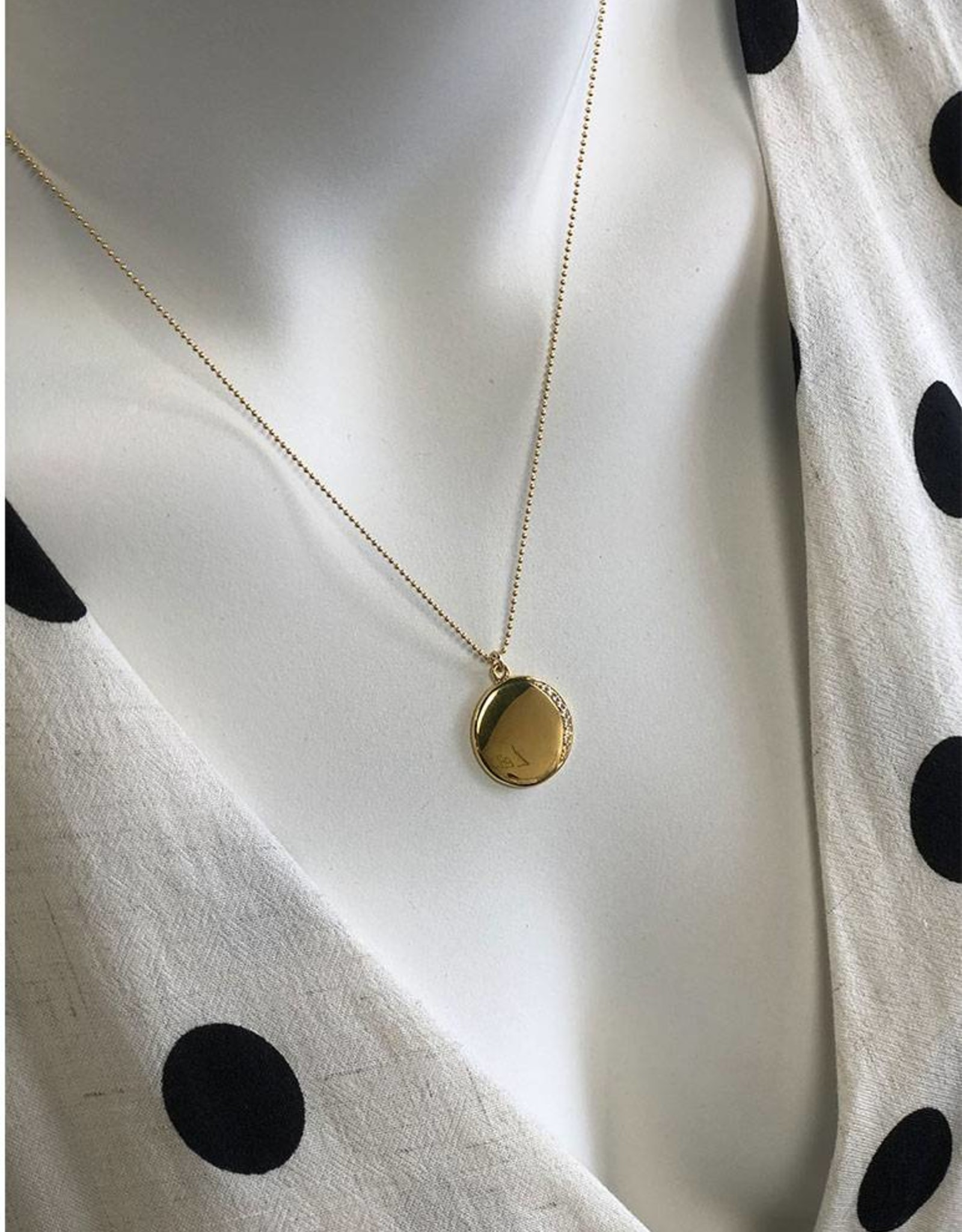 LEAH ALEXANDRA Leahlax ECLIPSE necklace, GOLD