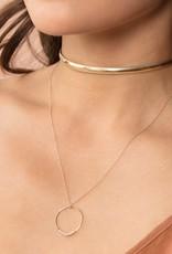 LEAH ALEXANDRA Halo Circle Gold Necklace