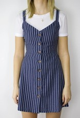 LUSH Stripe Button Down Dress