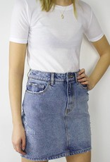 RVCA Jolt High Rise Denim Skirt