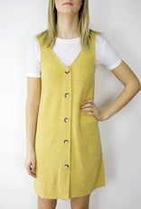 LeBLANC finds Mustard Button Tunic Dress