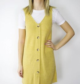 LeBLANC finds Mustard Button Tunic Dress