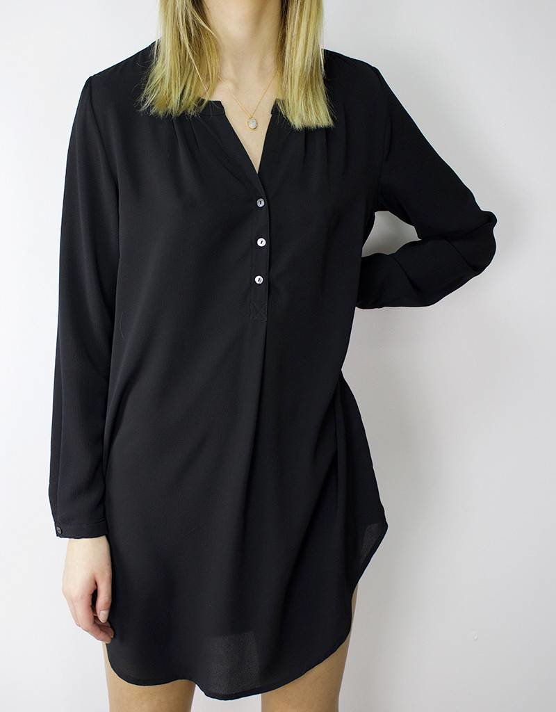 Buttoned Tunic BLACK