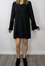 VERA MODA Bell Sleeve Black Dress