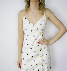 LUSH Button Print Dress