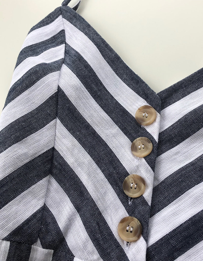 RD STYLE Stripe Jumpsuit